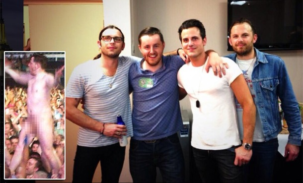 Naked Crowdsurfer Meets 'Kings of Leon'