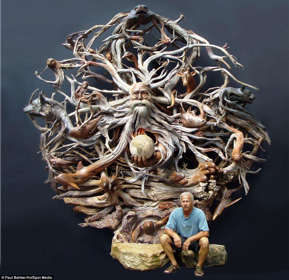 driftwood sculpture cyber gazing. Black Bedroom Furniture Sets. Home Design Ideas