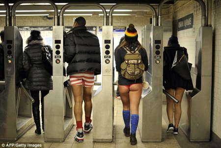 """No Pants Subway Ride"" Day"