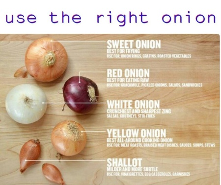 Using the Right Onion for the Right Food