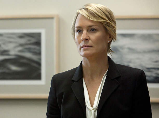 """Robin Wright in a scene from Netflix's """"House of Cards."""" Photo credit: Melinda"""