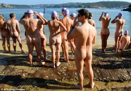 Largest Nude Swim In Sydney, Australia
