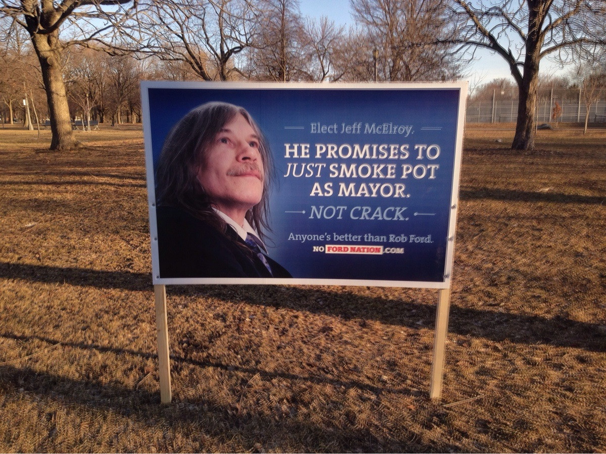 canadian election sign cyber gazing