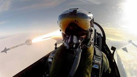 Jet Pilot Takes Selfie While Launching Missile