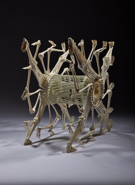 Artist Makes Sculptures from Human Bones