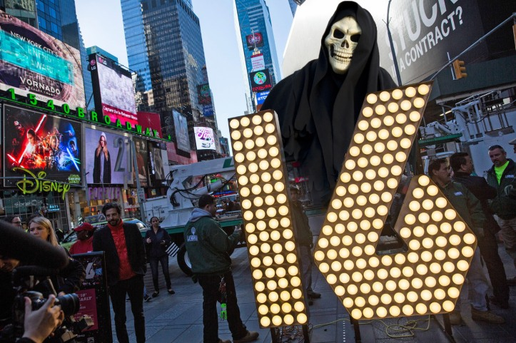 Numerals To Be Used In New York City's New Year's Eve Celebration Arrive In Times Square