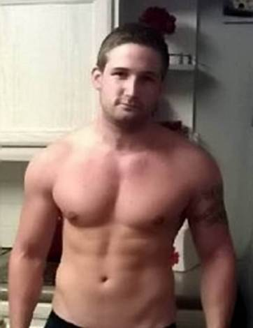 "Collect of Lewis Brown in 2012. Lewis Brown, 25, from Harerhill, Suffolk, who nearly died after he got addicted to being buff and overdosed on controversial diet pills DNP. See SWNS story SWPILLS; A dad who wanted a perfect 'beach body' was given hours to live after he overdosed on controversial diet pills - which ""cooked"" his body from the inside. Lewis Brown, 25, started going to the gym to get fit but quickly became obsessed with working out and started taking steroids to gain a 15-and-a-half stone frame. The lab worker - who went to the gym everyday - then turned to controversial diet pills DNP this summer to help him loose extra fat so he could add more muscle. But the father-of-one overdosed when he took eight of the 'fat burners' in a day and the poisonous chemicals increased his body temperature to almost 42 degrees. Worried medics were forced to put Lewis in a coma while they covered him in ice, but when his muscles started to die, his devastated family were called to say goodbye."